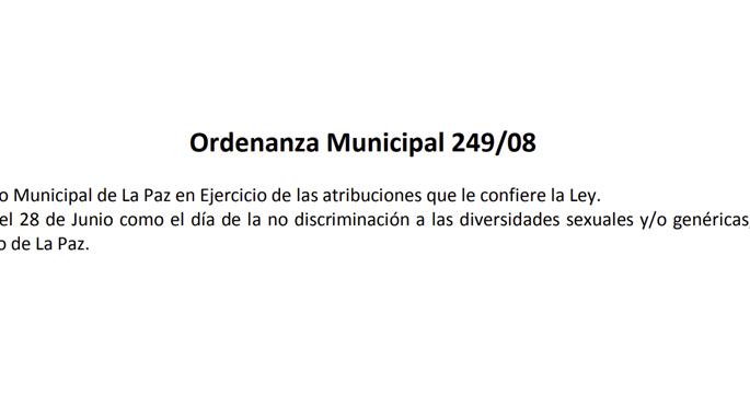 Ordenanza Municipal No 249/08