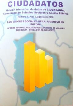 Agenda de Propuestas de Políticas Públicas Desde Las Juventudes Boletín Trimestral de Datos de Ciudadanía, Comunidad de Estudios Sociales de la Juventud en Bolivia. Número 4/ Año 2. agosto de 2018